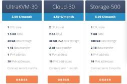 UltraVPS kvm 欧洲vps主机 3欧元每月 非常稳定的建站主机