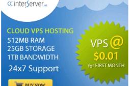 本博客从interserver拿到的独家优惠码,vps首月仅需0.01$